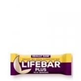 Barretta Lifebar Plus Bio con banana e açai, Lifefood 47g