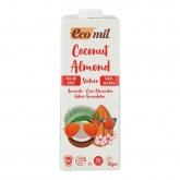 Bevanda di cocco e mandorla Eco Nature senza zucchero Ecomil, 1L