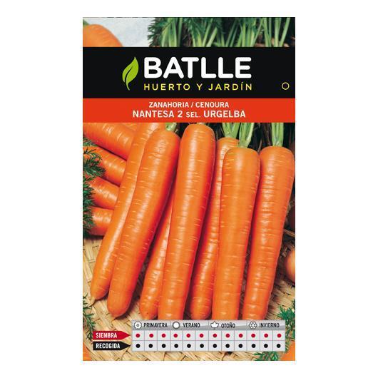 Semillas de  Zanahoria Nantesa 2 Urgelba, 25gr