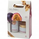Kit gel doccia e crema corpo frutto della passione Delidea BIO, Santiveri