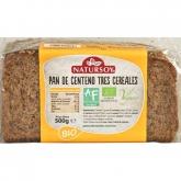 Pão centeio 3 cereais ECO Natursoy, 500 gr