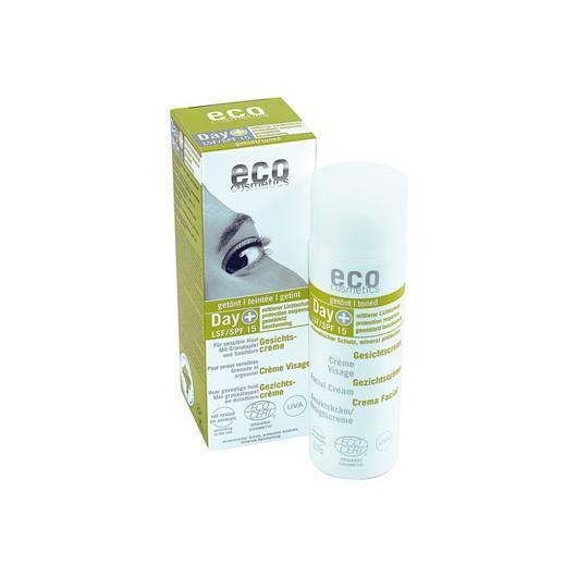 Crème visage bronzante SPF 15 EcoCosmetics, 75 ml