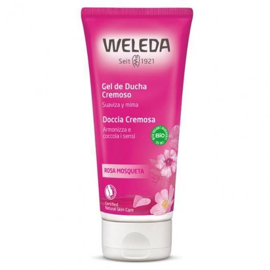Crème de douche à la rose musquée Weleda, 200 ml