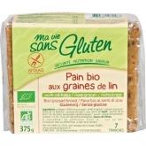 Pane di cereali e lino senza glutine Ma vie sans gluten, 375 g
