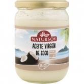Óleo de côco desodorizado especial para fritar BIO Natursoy, 400 g