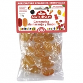 Caramelle arancia e limone BIO Natursoy, 75 g