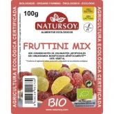 Caramelle gommose fruttini mix ricoperte di zucchero BIO Natursoy, 100 g