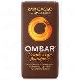 Cioccolato con mandarino e mirtilli Crudo Bio OMBAR 35 g