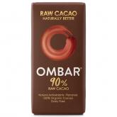 Cioccolato fondente 90% crudo bio OMBAR 35 g