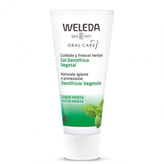 Gel dentífrico vegetal  Weleda, 75 ml