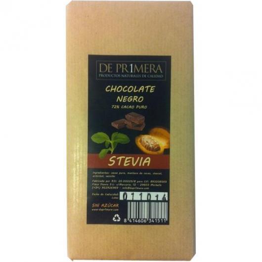 Chocolat noir avec stévia DePr1mera, 100 g