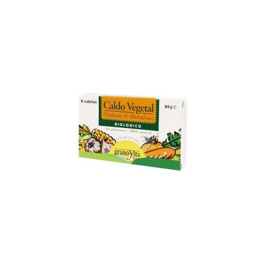 Bouillon végétal (8 cubes) Grano Vita, 84 g