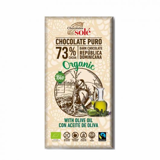 Chocolat noir à l'huile d'olive Solé, 100 g