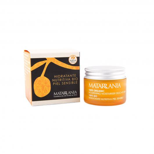 Crème hydratante nourrissante bio peaux sensibles Matarrania, 30 ml