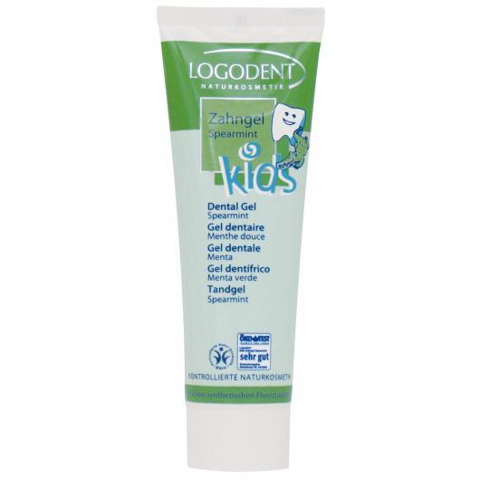 Gel dentifrice à la menthe poivrée Kids Logona, 50 ml