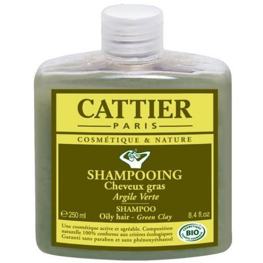 Champú cabellos grasos a la arcilla verde Cattier, 250 ml