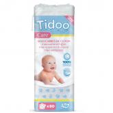 Maxi quadrotti di cotone ultra morbidi Tidoo, 80 unità