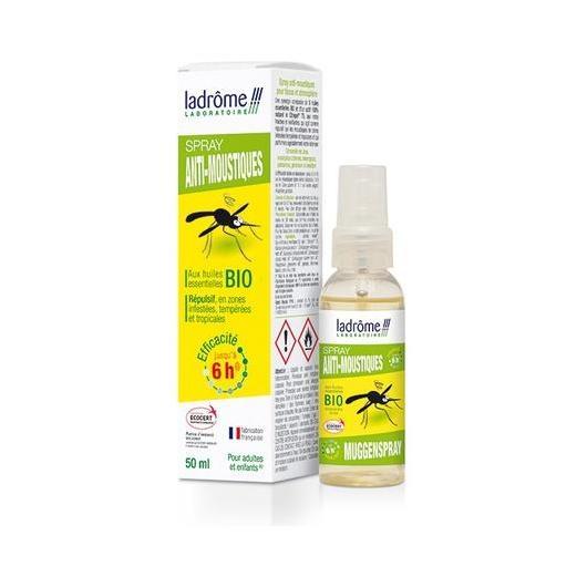 Anti-moustiques à la citronnelle bio Ladrome, 50 ml