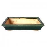 Vaso rettangolare verde 25 cm
