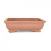 Vaso rettangolare con base marrone