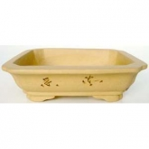 Vaso rettangolare con base beige