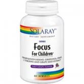 Focus per bambini Solaray - 60 compresse masticabili