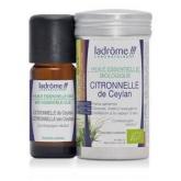 Huile essentielle de citronnelle bio Ladrôme, 10 ml