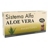 Sistema Alfa Aloe Vera Máxima Fuerza Pharma OTC, 20 viales