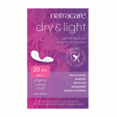 Absorvente dry-light incontinência Natracare, 20 ud