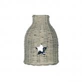 Lampada Rattan Star 8x23x31cm Grigio