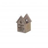 Casa doppia Legno 19x10x9cm Grigio