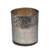 Mini lampada di metallo Orissa 12x13cm Argento