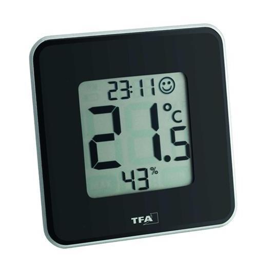 Termo-Igro orologio digitale nero