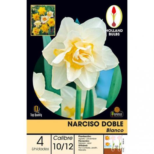Bulbo Narciso Doble Blanco 4ud
