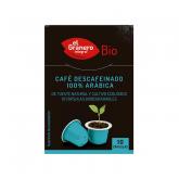 Capsule di caffè decaffeinato 100% arabica BIO El Granero Integral, 10 capsule