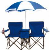 Cadeira dupla adulto com sombrinha