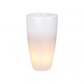 Fioriera Pure soft round high LED light Elho