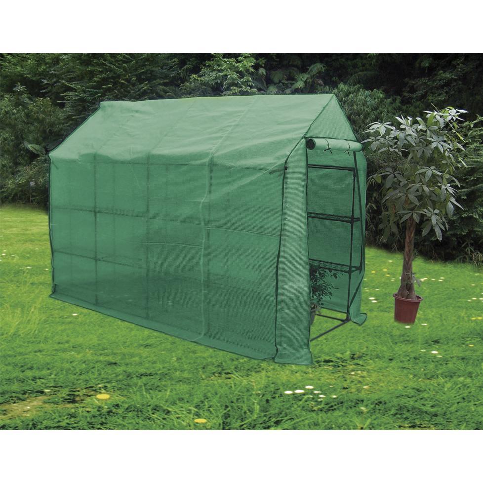 Invernadero con estructura acero plastificada por 205 95 for Estructura vivero