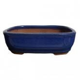 Vaso oval azul 21 cm