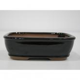 Vaso ovale nero 16 cm