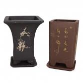 Vaso cascata con piatto SE Yixing