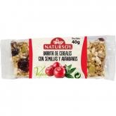Barretta di cereali con semi e mirtilli Natursoy, 40g