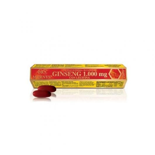 Ginseng avec lécithine 30 gélules MARNYS