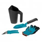 Kit ferramentas e regador Gardena