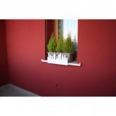 Supporto anti-caduta per fioriere e vasi- City bianco