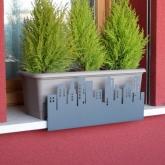 Supporto anti-caduta per fioriere e vasi- City grigio atracite