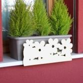 Supporto anti-caduta per fioriere e vasi- Fiori bianco