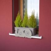 Supporto anti-caduta per fioriere e vasi- Lumache grigie