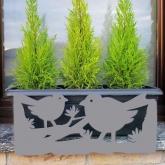 Supporto anti-caduta per fioriere e vasi- Uccelli Grigio