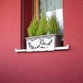 Supporto anti-caduta per fioriere e vasi- Uccelli Bianco